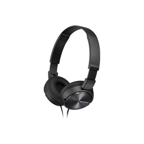 Sony - Wired On-ear Folding Headphones with Microphone - Black