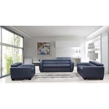 Product Image - Divani Casa Russo Modern Blue Leather Sofa Set