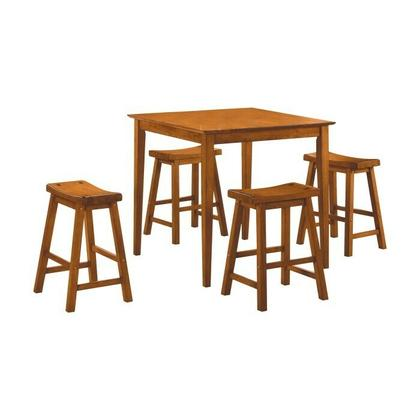 See Details - 5-Piece Pack Counter Height Set, Oak