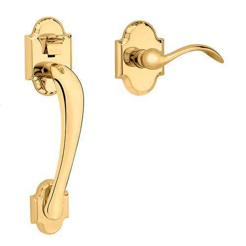 Baldwin - Non-Lacquered Brass Boulder Handle Grip Sectional