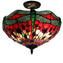 View Product - Tiffany-style Dragonfly Ceiling Lamp
