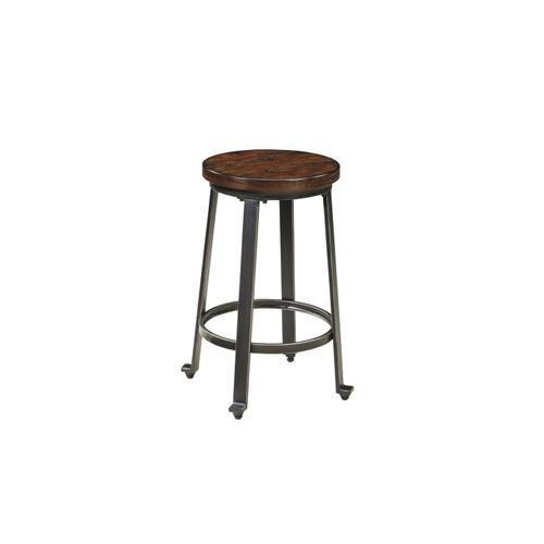 Signature Design By Ashley - Challiman - Rustic Brown Set Of 2 Dining Room Barstools