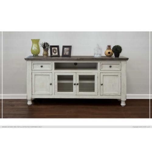 "International Furniture Direct - 70"" TV Stand Stone"