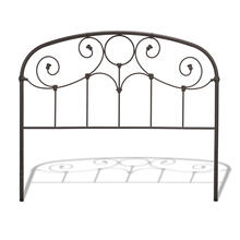 See Details - Grafton Metal Headboard Panel with Prominent Scrollwork and Decorative Castings, Rusty Gold Finish, Queen