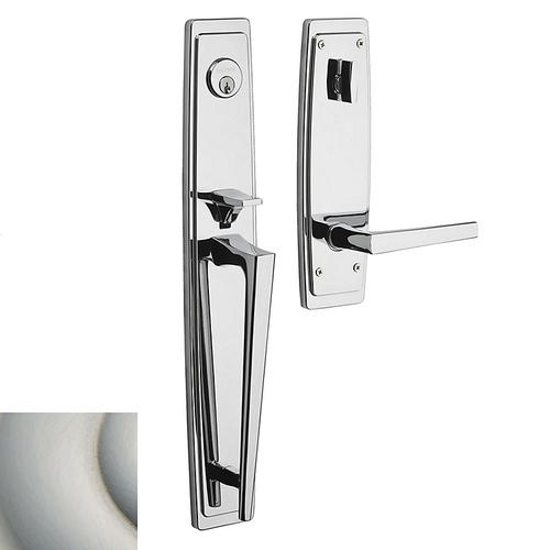 Satin Nickel with Lifetime Finish Palm Springs Full Escutcheon Handleset