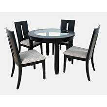 Urban Icon Rect. Ext. Dining Table W/ 4 Slotbacks & Bench