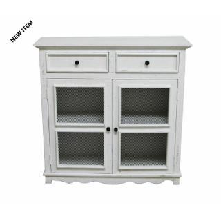 See Details - White 2 Dwr 2 Door Cabinet
