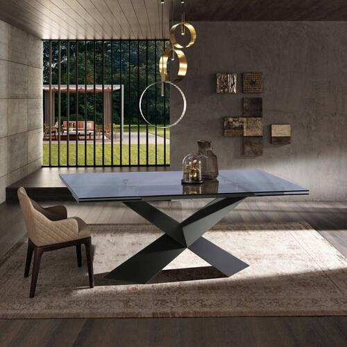 VIG Furniture - Modrest Scott - Modern Extendable Glass Dining Table