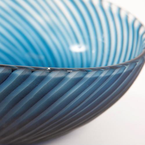 Howard Elliott - Oceanic Wave Hand Blown Glass Bowl