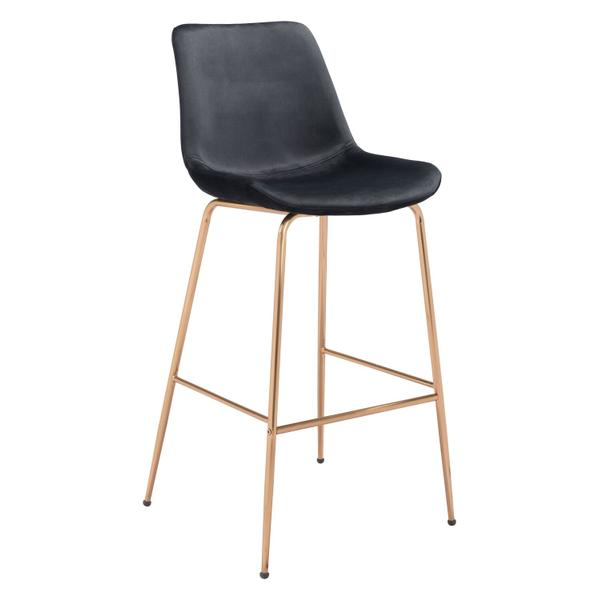 See Details - Tony Bar Chair Black & Gold