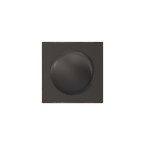 Custom Plymouth Knob with Collins Trim Hall-Closet and Bed-Bath Lock - Aged Bronze