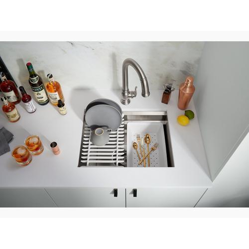 """23"""" X 17-3/4"""" X 10-7/8"""" Undermount Single-bowl Kitchen Sink With Accessories"""