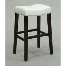 "ACME Lewis Counter Height Stool (Set-2) - 96291 - White PU & Espresso - 26"" Seat Height"