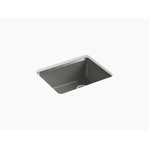 "Thunder Grey 25"" X 22"" X 9-5/8"" Undermount Single-bowl Kitchen Sink With Rack"