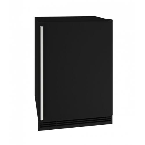 "U-Line - Hre124 24"" Refrigerator With Black Solid Finish (115v/60 Hz Volts /60 Hz Hz)"