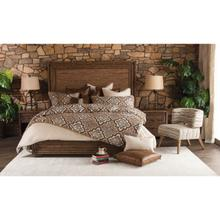 Queen Panel Bed W/fabric Insert (3 Pc)