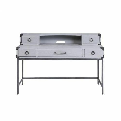 ACME Orchest Desk - 36142 - Transitional, Industrial - Wood (Poplar/Pine), MDF - Gray