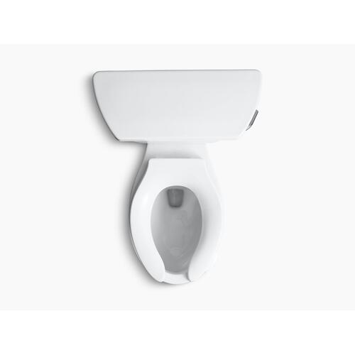 White Two-piece Elongated 1.0 Gpf Toilet With Pressure Lite Flushing Technology and Left-hand Trip Lever