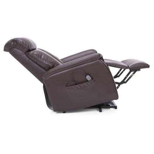 Chocolate Lift & Massage PWR Reclining Chair