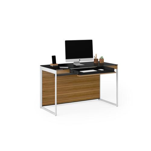 BDI Furniture - Sequel 20 6103 Compact Desk in Walnut Satin Nickel