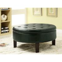 Casual Dark Brown Round Ottoman Product Image