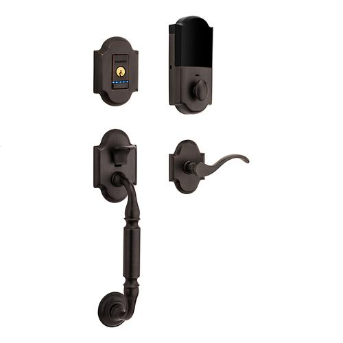 Distressed Oil-Rubbed Bronze Evolved Canterbury Lever Sectional Handleset