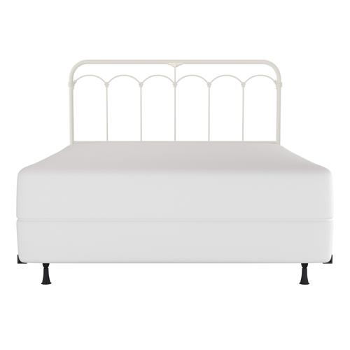 Jocelyn Queen Metal Headboard, Soft White