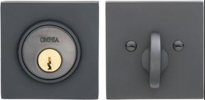 Square Auxiliary Deadbolt Kit in (US10B Black, Oil-Rubbed, Lacquered) Product Image