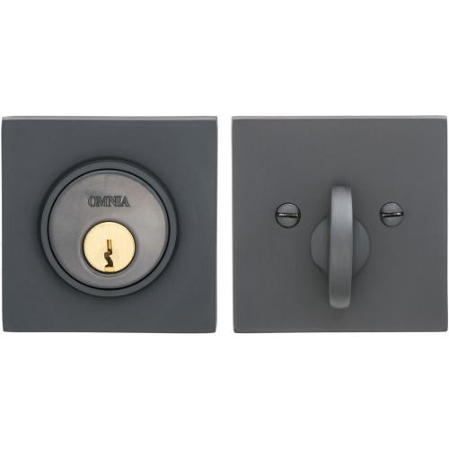 Product Image - Square Auxiliary Deadbolt Kit in (US10B Black, Oil-Rubbed, Lacquered)