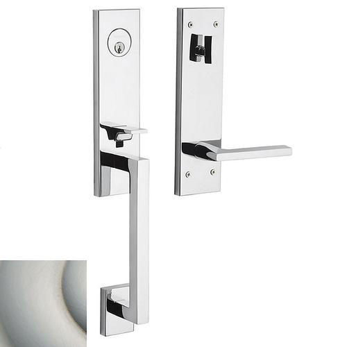Satin Nickel with Lifetime Finish Minneapolis 3/4 Escutcheon Handleset