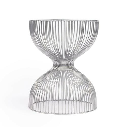 Butler Specialty Company - The open hour-glass figure of this Nicholas Iron Cage adds dimension and texture. The silver finish adds depth while the spaces between the iron wire allow for an open design.