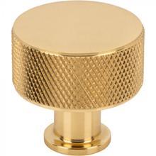 View Product - Beliza Cylinder Knurled Knob 1 1/8 Inch Polished Brass Polished Brass