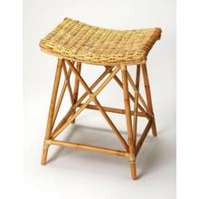 Bring the ambiance of a tropical getaway to your kitchen, bar or work space with this transitional rattan counter stool. Fully crafted from rattan, its kubu rattan seat has the appearance of a woven basket supported by rattan pole legs, footrests and stretchers.
