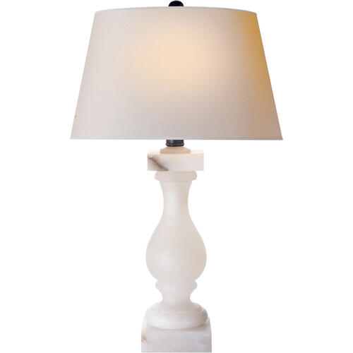 Visual Comfort - E F Chapman Balustrade 27 inch 150.00 watt Alabaster Natural Stone Decorative Table Lamp Portable Light in Natural Paper