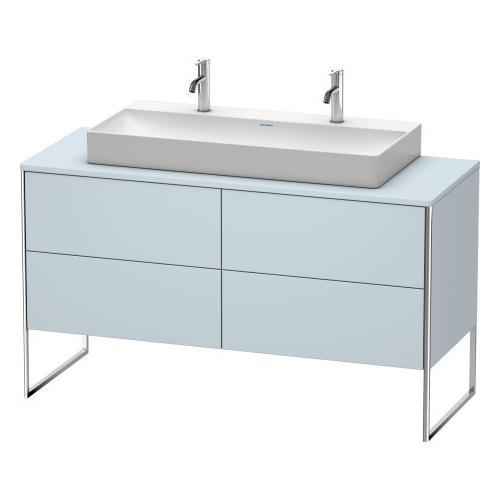Duravit - Vanity Unit For Console Floorstanding, Light Blue Satin Matte (lacquer)