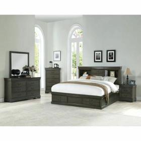 ACME Louis Philippe III Queen Bed - 24930Q - Dark Gray