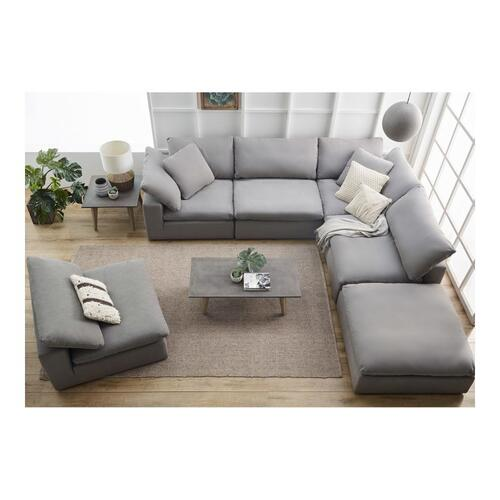 Moe's Home Collection - Clay Modular Sectional Livesmart Fabric Light Grey