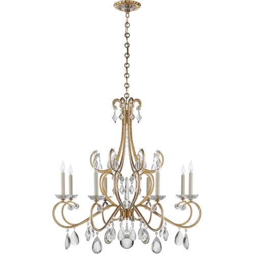 AERIN Montmartre 8 Light 40 inch Hand-Rubbed Antique Brass Chandelier Ceiling Light