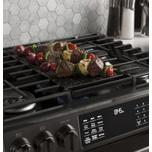 """GE Profile 30"""" Smart Slide-In Front-Control Gas Double Oven Convection Range"""