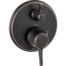 Rubbed Bronze Pressure Balance Trim with Diverter, Round