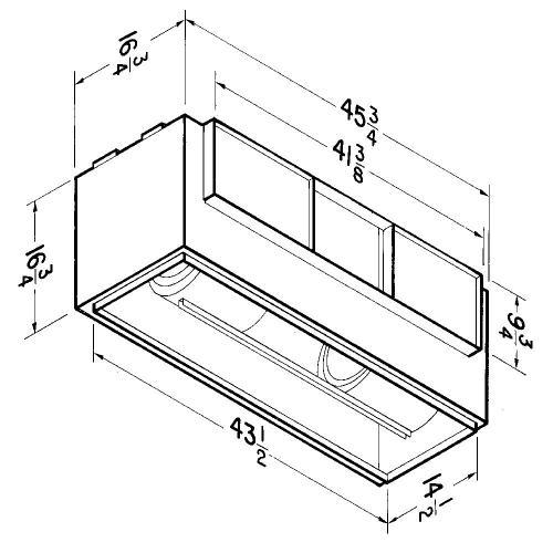 Broan® LOSONE SELECT Ventilation Fan; 3452 CFM Straight Through, 14.5 Sones; 3696 CFM Right Angle