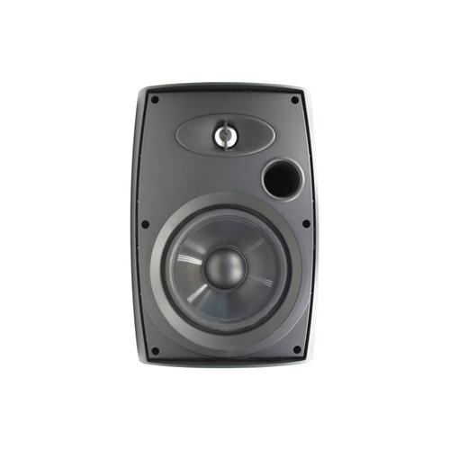 """Universal Remote Control - 6.5"""" Two-Way Outdoor Speakers (Black)"""