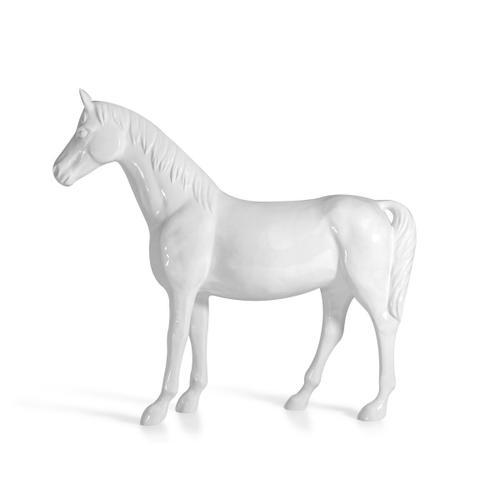 Gallery - Modrest White Full Size Horse Sculpture