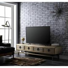ACME Jennavieve TV Stand - 91515 - Gold Aluminum