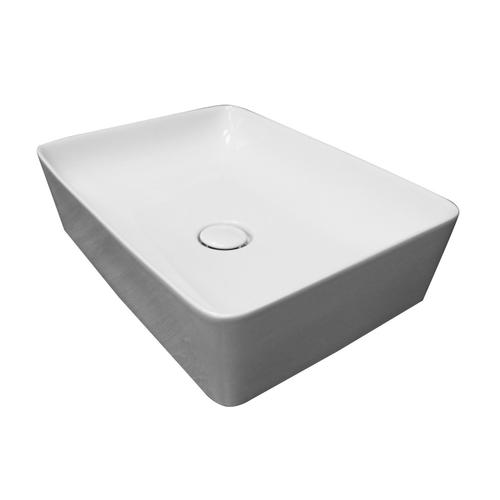 Feeling Slim Rectangular Above Counter Basin - White