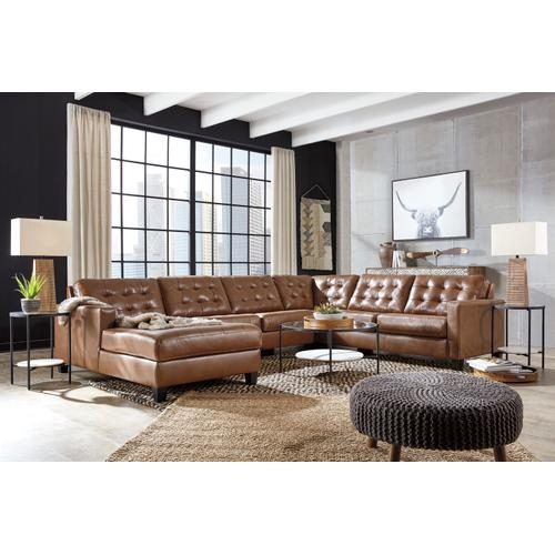 Baskove 4 Pc Sectional Auburn