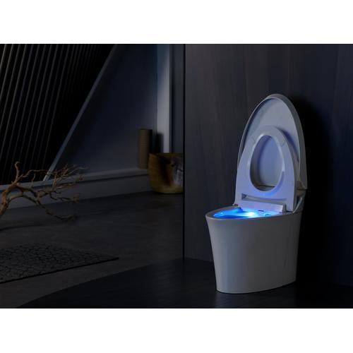 White One-piece Elongated Dual-flush Intelligent Toilet