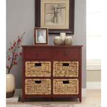 BURGUNDY DRAWER CABINET