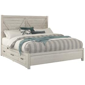 V Panel Bed with 1 side storage unit