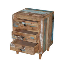 See Details - 3 Drawer Nightstand - Reclaimed Sunset Finish